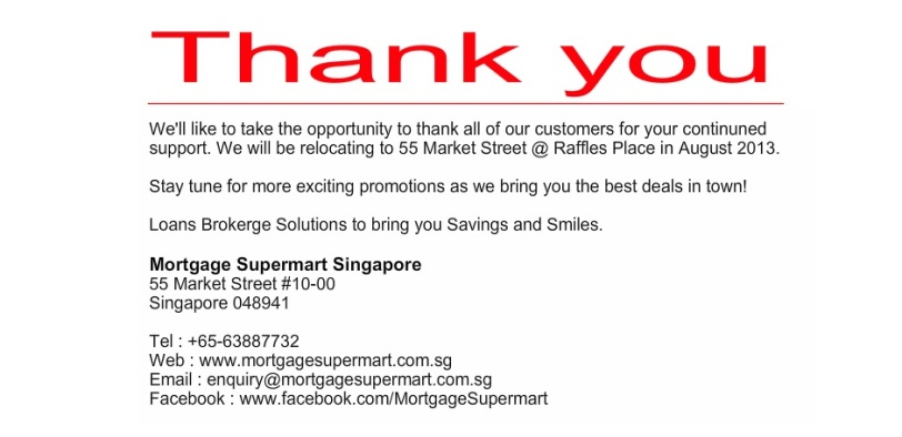 Thank you - Mortgage Supermart Singapore