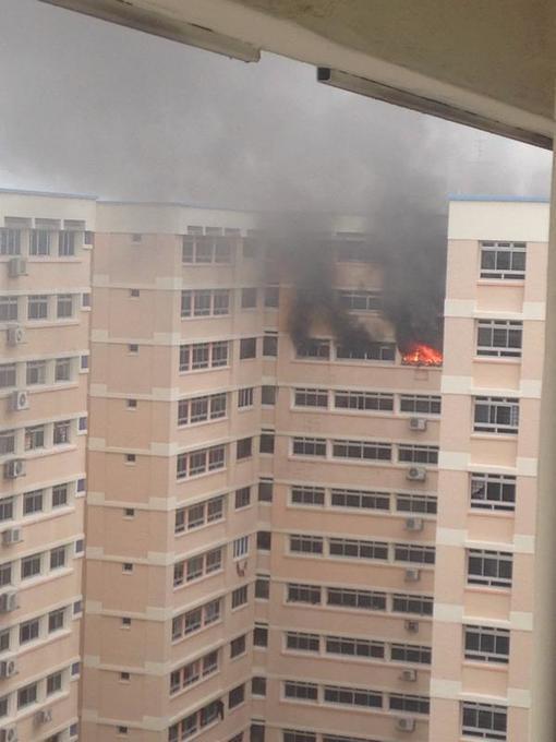 HDB Flat on fire